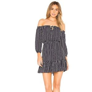 Bb dakota McKenna baby stripe off shoulder dress